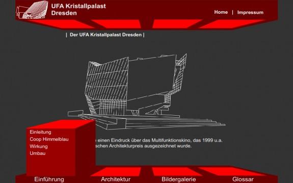 UFA Kristallpalast - Hauptmenü