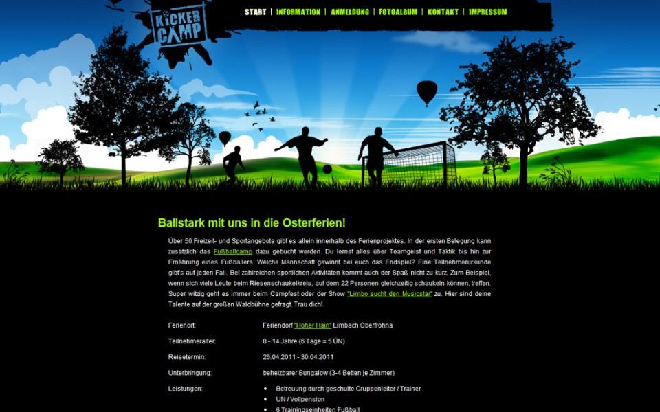 Kickercamp - Startseite