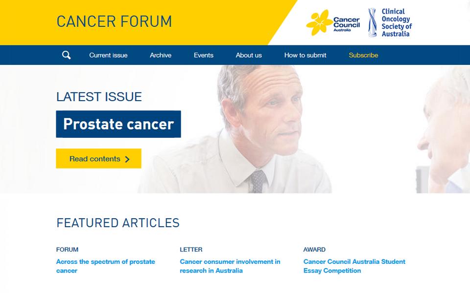 Cancer Council Forum